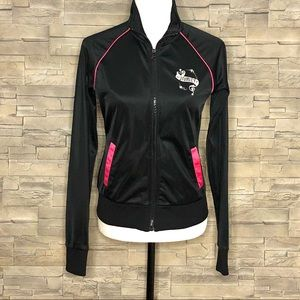 Hurley black and pink embroidered track jacket